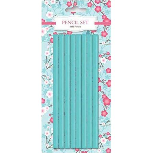 IGD Cherry Blossom Design HB Pencils - Pack of 8