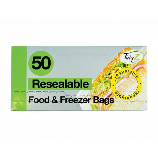 Resealable Food Bags - Box of 50