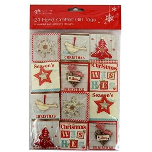 Giftmaker Collection Handcrafted Gift Tags, Contemp - Pack of 24