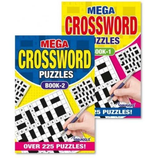 Squiggle A5 Mega Crossword Puzzle Books - Set of 2