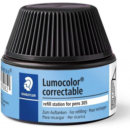 Staedtler Lumocolor Correctable Ink Refill - Black