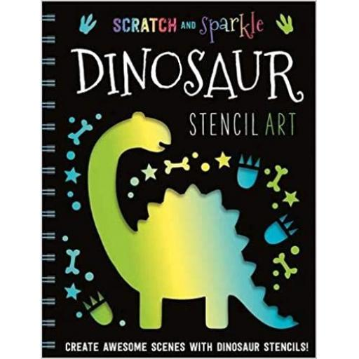 Scratch & Sparkle Stencil Art - Dinosaur