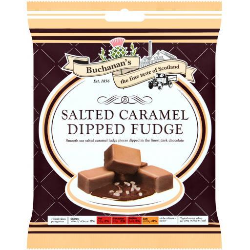 Buchanan's Salted Caramel Dipped Fudge 150g *BBE 09/21