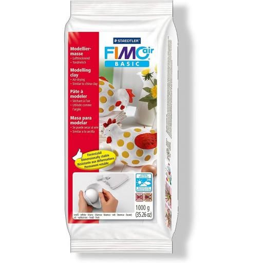 Staedtler Fimo Basic Air 1kg Block - White