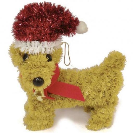 Festive Wonderland Tinsel Dog Decoration
