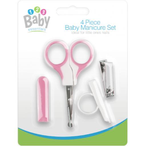 Gem Four Piece Baby Manicure Set - Pink