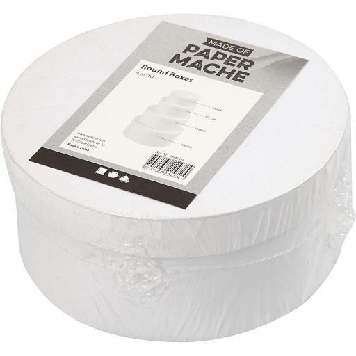 Creativ Paper Mache Round Boxes - Set of 4