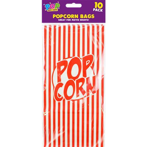Paper Popcorn Bags, Pack of 10