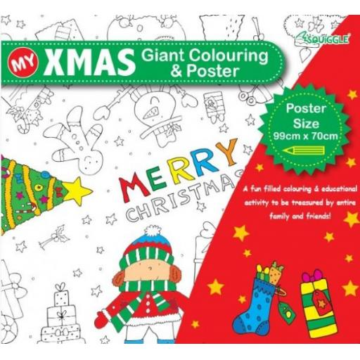 Squiggle - My Giant Xmas Colouring Poster