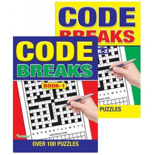 Squiggle A4 Code Breaks Puzzle Books - Set of 2