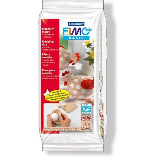 Staedtler Fimo Basic Air 1kg Block - Flesh