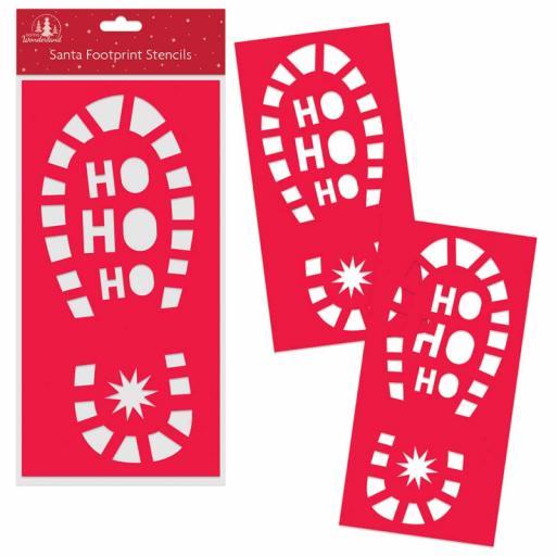 Festive Wonderland Santa Footprint Stencils