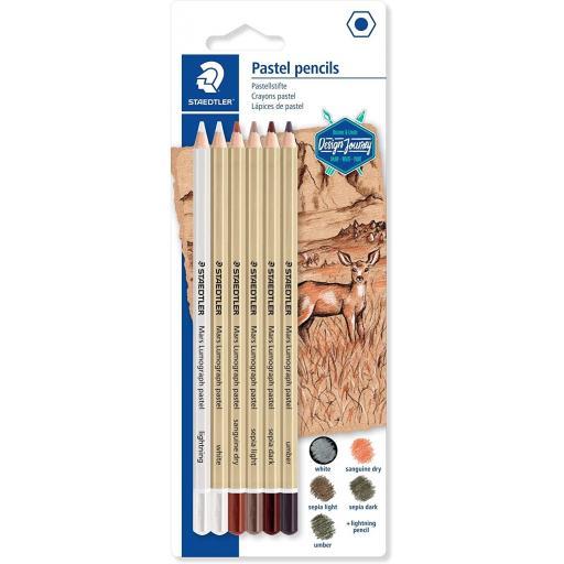 Staedtler Design Journey Pastel Pencils - Pack of 6