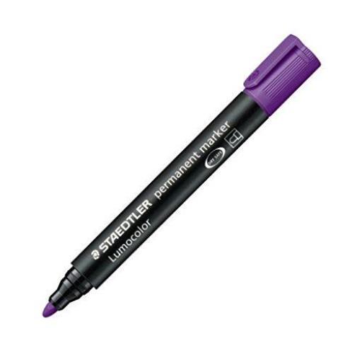 Staedtler Lumocolor Permanent Marker Bullet Tip - Purple