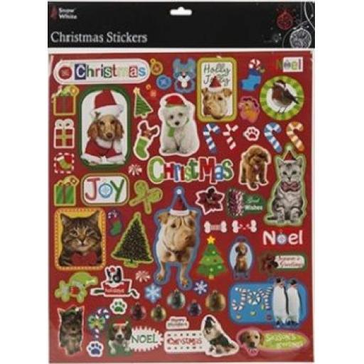 PMS Xmas Designs Sticker Sheets Animals