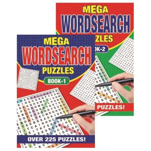 Squiggle A5 Mega Wordsearch Books - Set of 2