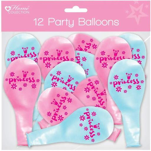 Home Collection Princess Party Balloons - Pack of 12