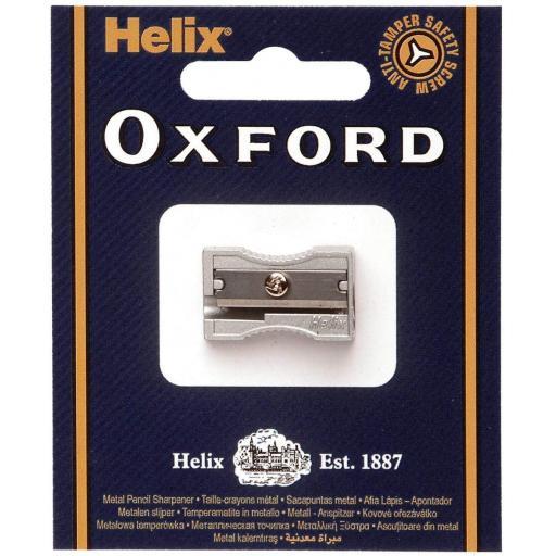 Helix Oxford Single Hole Metal Pencil Sharpener