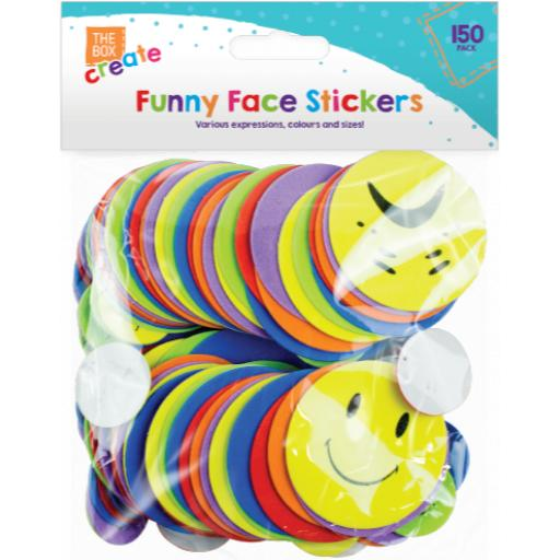 The Box Funny Face Stickers - Pack of 150