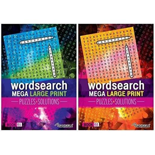 Squiggle Mega Large Print A4 Puzzles Glossy - Set of 2