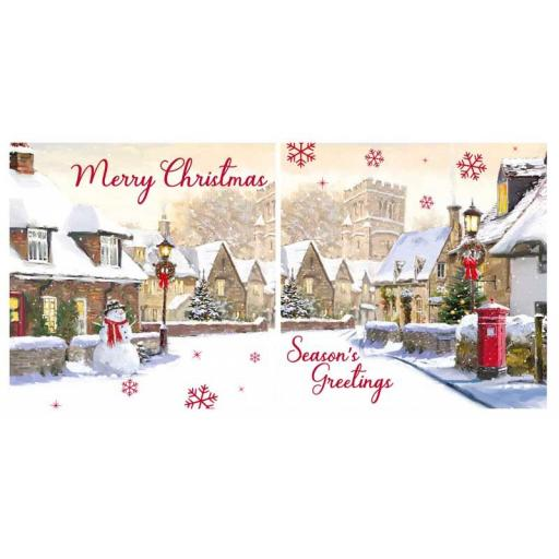 North Pole Luxury Square Christmas Cards, Winter Street - Box of 12