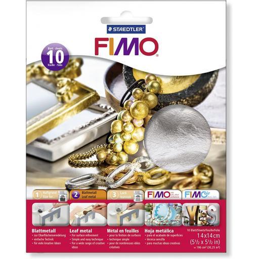 Staedtler Fimo Leaf Metal Silver - Pack of 10 Sheets
