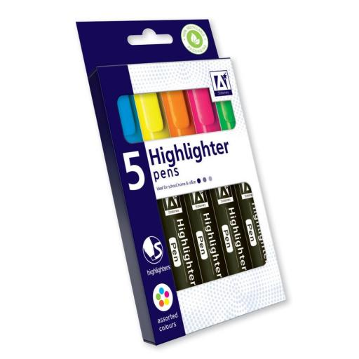 IGD Neon Highlighter Pens - Box of 5