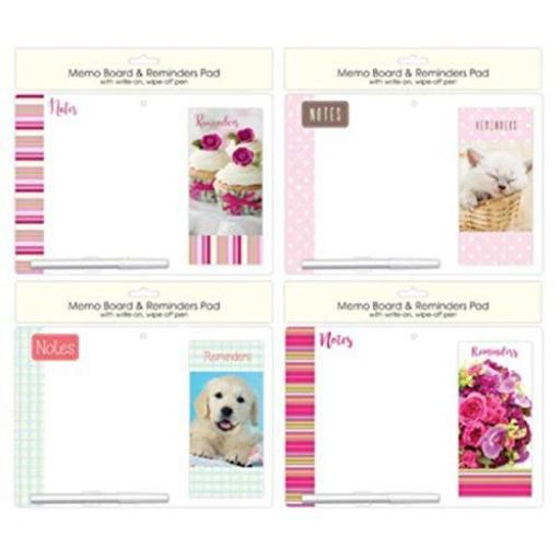 Tallon Memo Board & Reminder Pad - Assorted Designs