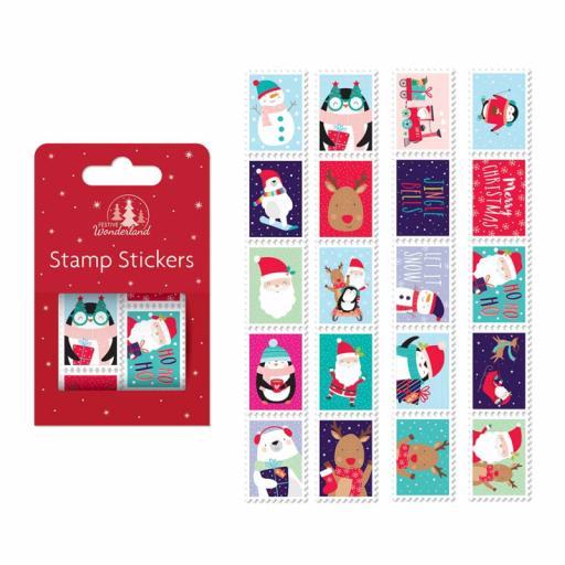 Festive Wonderland Stamp Stickers