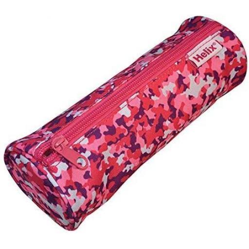 Helix Oxford Camo Pencil Case - Pink