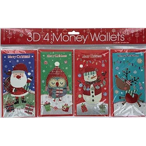 Tulip Money Wallets, Cute Designs C18 - Pack of 4