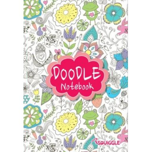 Squiggle A5 Lined Doodle Notebook - Pink Cover