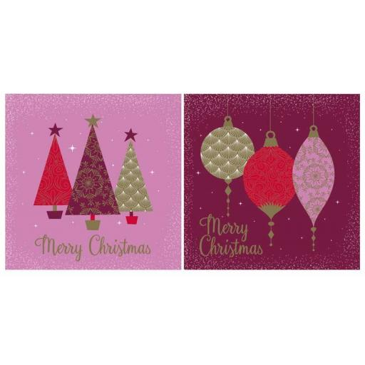 North Pole Luxury Square Christmas Cards, Contemporary - Box of 12