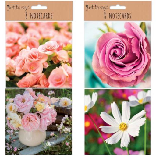 Tallon Just to Say Photographic Notecards, Floral - Pack of 8