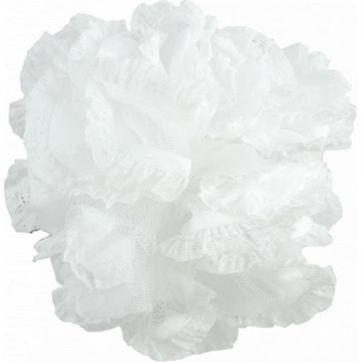 Gem Exfoliating White Bath Ruffle