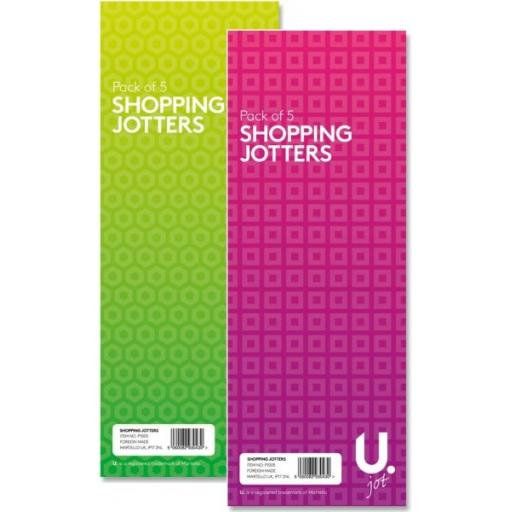 U. Shopping Jotters - Pack of 5