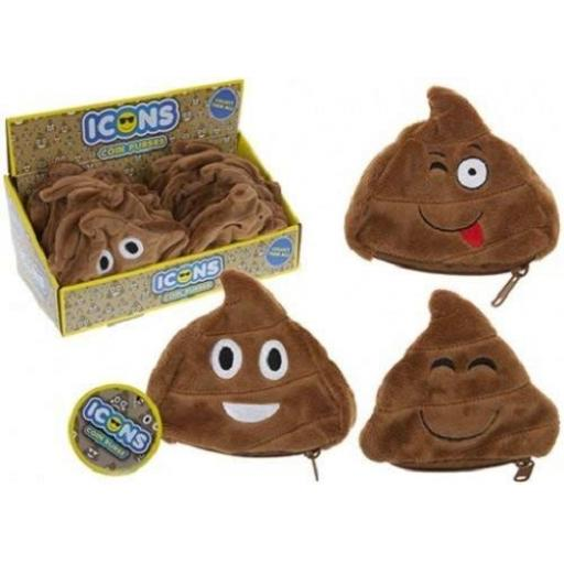 PMS Emoji Poop Icons 14cm Coin Purse - Assorted Designs