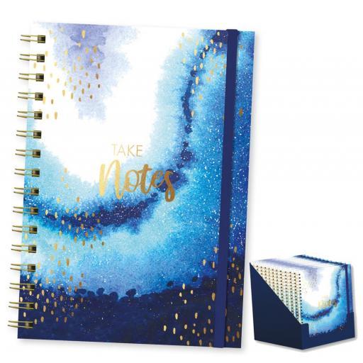 IGD Opulent Geo Take Notes, A5 Spiral Notebook