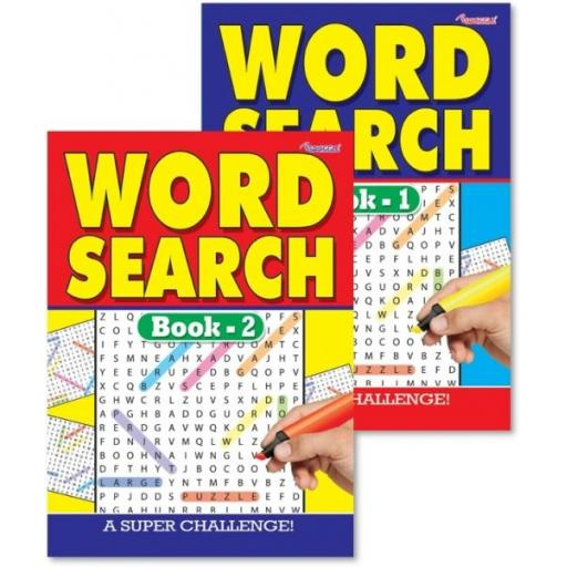 Squiggle A4 Wordsearch Puzzle Books - Set of 2