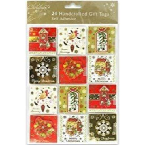RSW Self Adhesive Handcrafted Gift Tags - Pack of 24