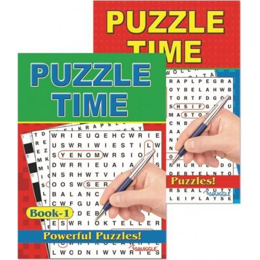 Squiggle A4 Puzzle Time Books - Set of 2