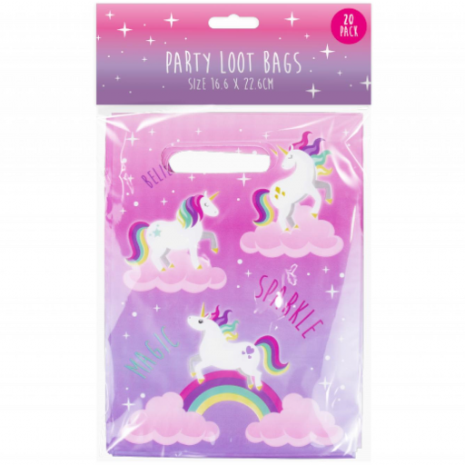 Party Loot Bags Unicorn - Pack of 20