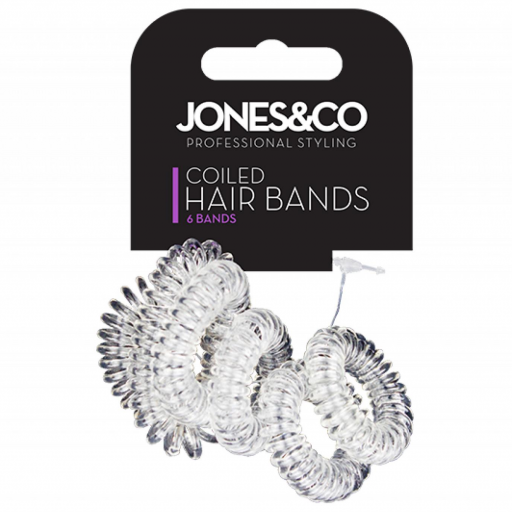 Jones & Co Coiled Hair Bands - Pack of 6