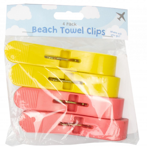 Beach Towel Clips - Pack of 4