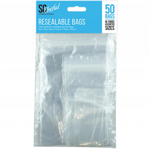 So Useful Resealable Bags - Pack of 50