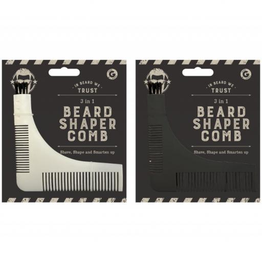 Gem 3 in 1 Beard Shaped Comb
