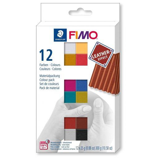 Staedtler Fimo Leather Effect Effect Half Blocks Pack of 12