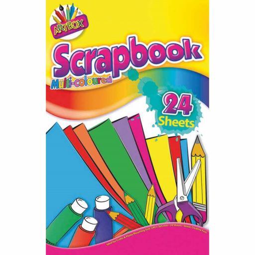 Artbox Scrapbook, 240 x 365mm - 24 Coloured Sheets