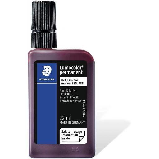 Staedtler Lumocolor Permanent Ink Refill 22ml - Red