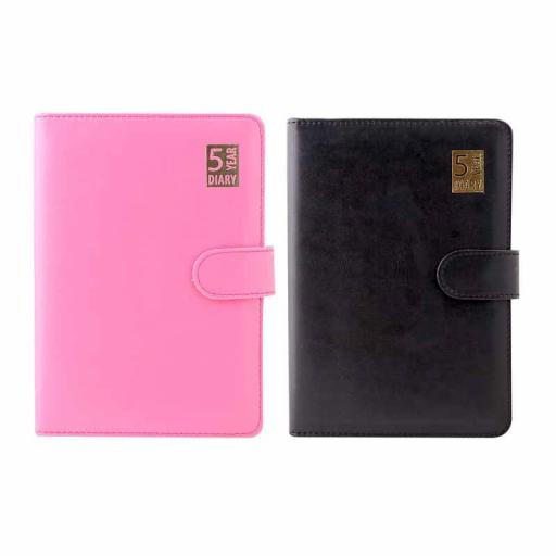 Tallon A5 Undated 5 Year Diary Black or Pink